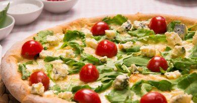 Pizza forgonzola e rucola