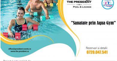Programul educational de combatere a sedentarismului, Sanatate prin Aqua Gym, se incheie pe 15 septembrie