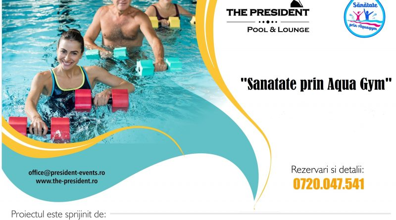 Programul educational de combatere a sedentarismului, Sanatate prin Aqua Gym, se incheie pe 15 septembrie