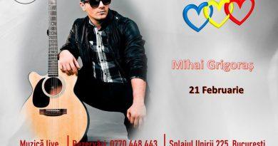 Ziua de 21 Februarie o dedicăm iubirii. Va așteptăm la Hop Garden cu un super recital Mihai Grigoraș!