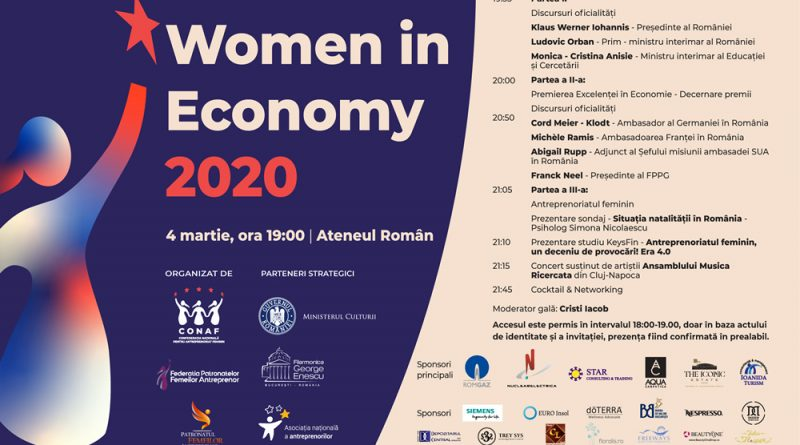 Gala Women in Economy premiaza excelenta in business