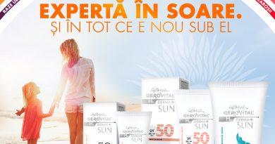 Farmec modernizează gama de dermatocosmetice solare Gerovital H3 Derma+ SUN