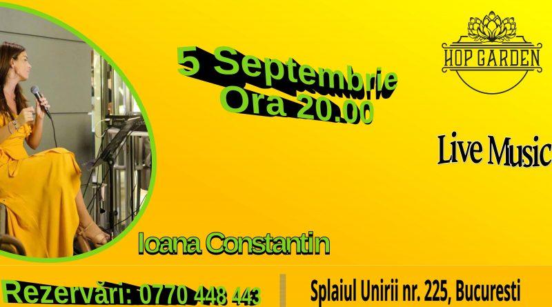 5 septembrie: Muzica live la Hop Garden, cu Ioana Constantin